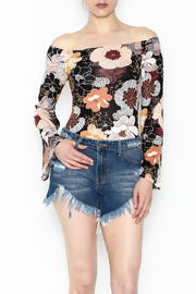 Solemio Floral Off Shoulder Bodysuit - Product Mini Image