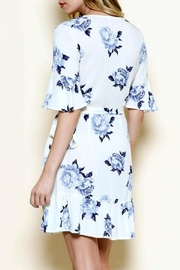 Solemio Floral Wrap Dress - Side cropped
