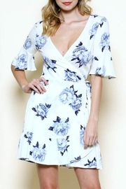 Solemio Floral Wrap Dress - Front full body