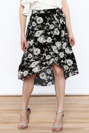 Solemio Floral Wrap Skirt - Product Mini Image