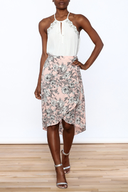 Solemio Floral Wrap Skirt - Front full body