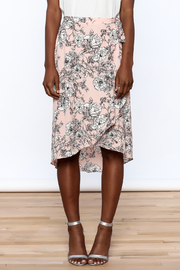 Solemio Floral Wrap Skirt - Side cropped