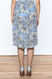 Solemio Floral Wrap Skirt - Back cropped