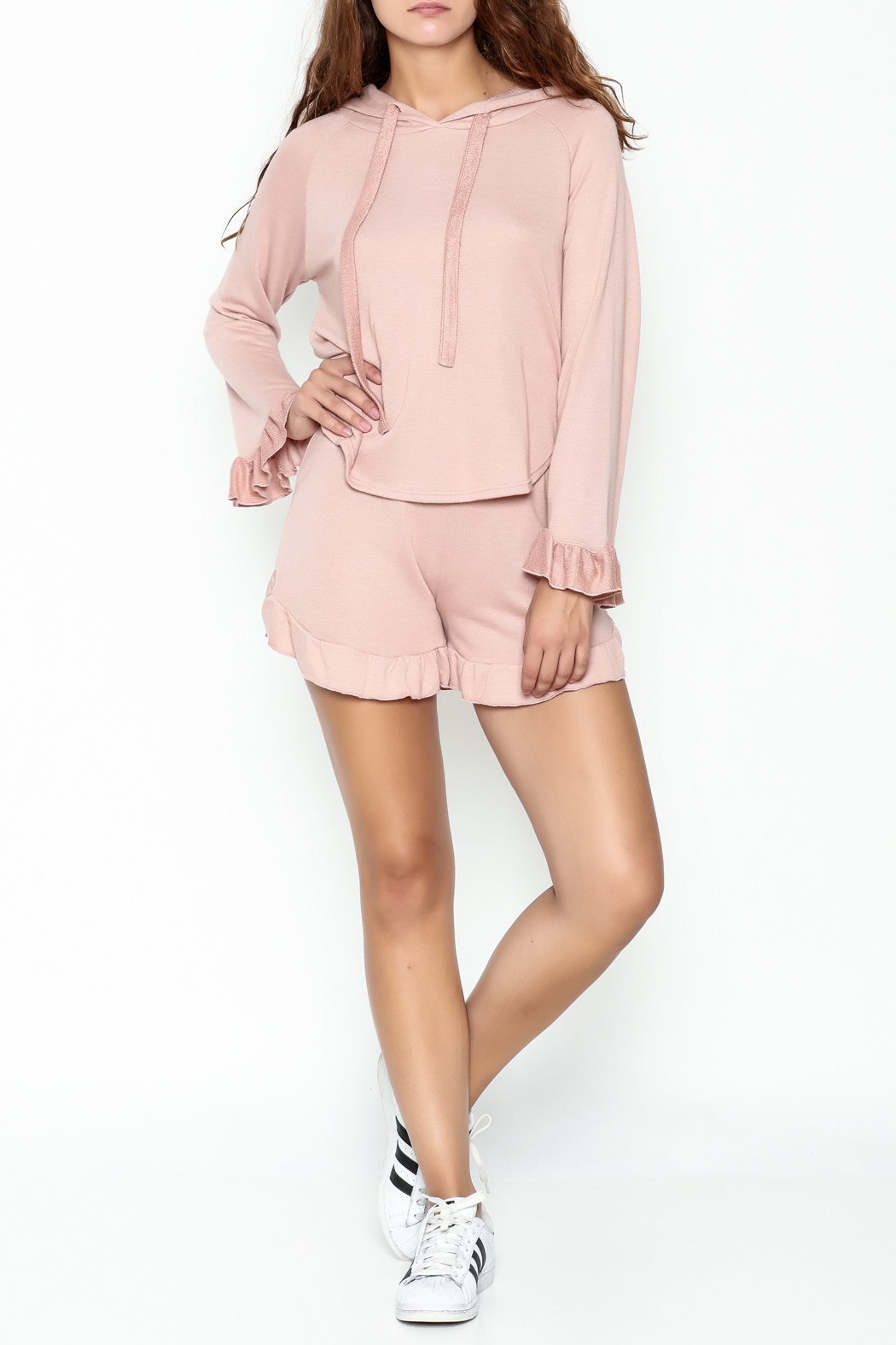 Solemio French Terry Shorts - Front Full Image