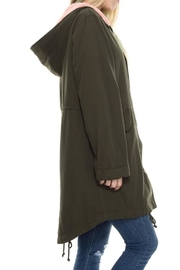 Solemio Fur Lined Jacket - Front full body