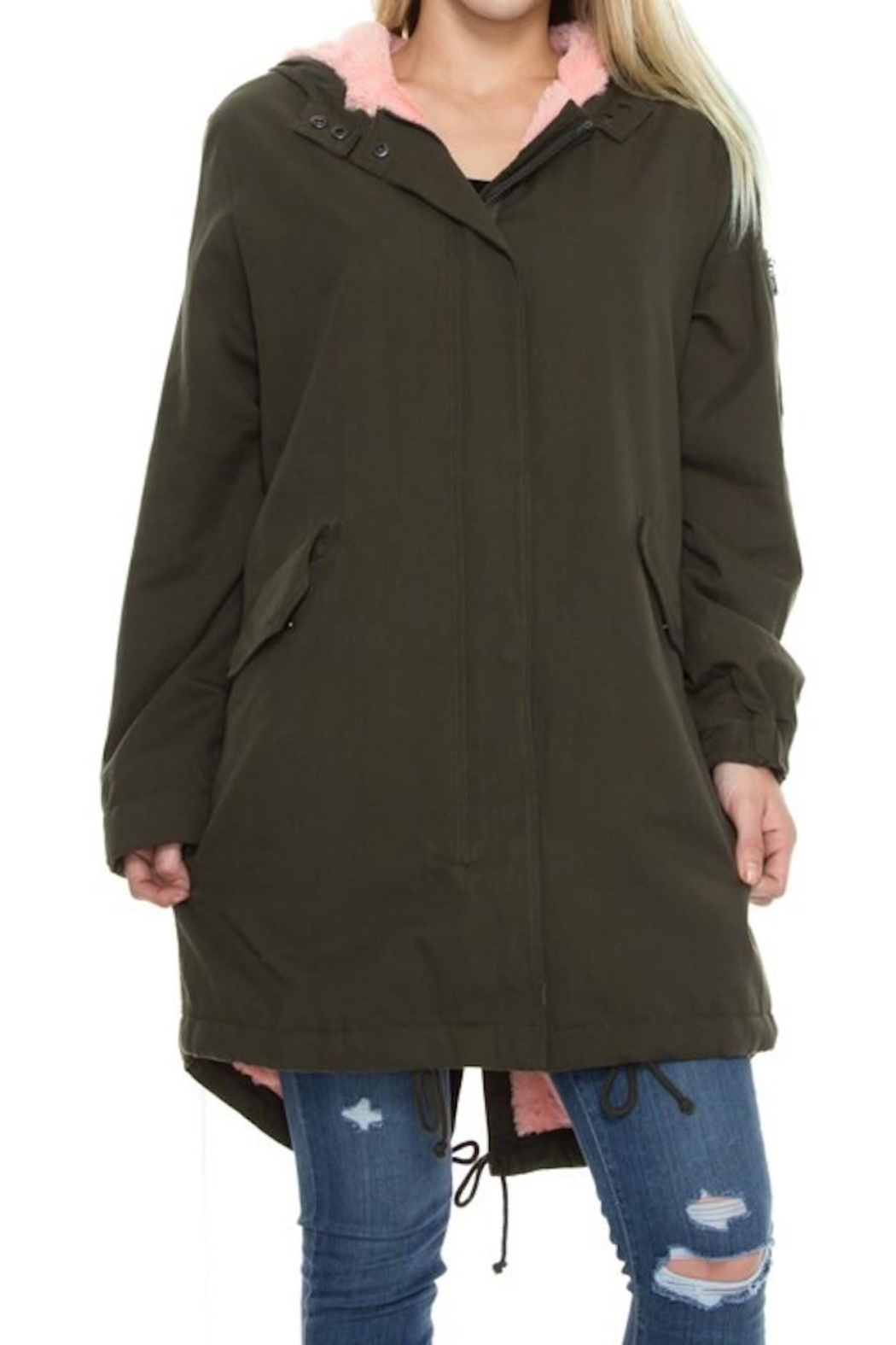 Solemio Fur Lined Jacket - Side Cropped Image