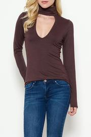 Solemio Mock Neck Top - Product Mini Image