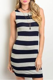 Solemio Nautical Stripes Dress - Product Mini Image