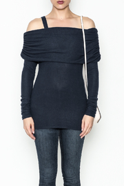 Solemio Cold Shoulder Sweater - Front full body