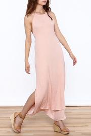 Solemio Pink Halter Maxi Dress - Product Mini Image