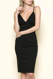 Solemio Plunge Midi Dress - Product Mini Image