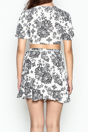 Solemio Print Flare Crop Top - Back cropped