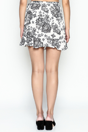 Solemio Print Flare Skirt - Back cropped