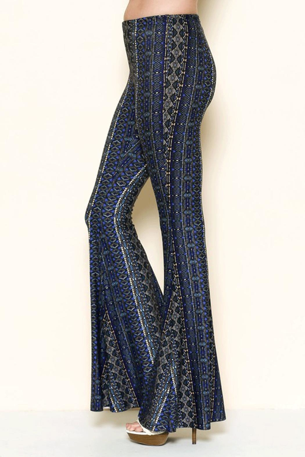 Solemio Printed Bell Bottoms - Front Full Image