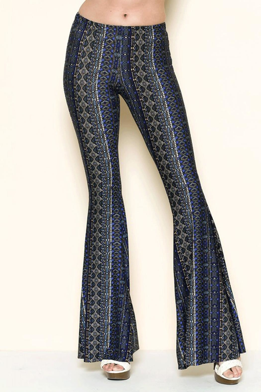 Solemio Printed Bell Bottoms - Main Image