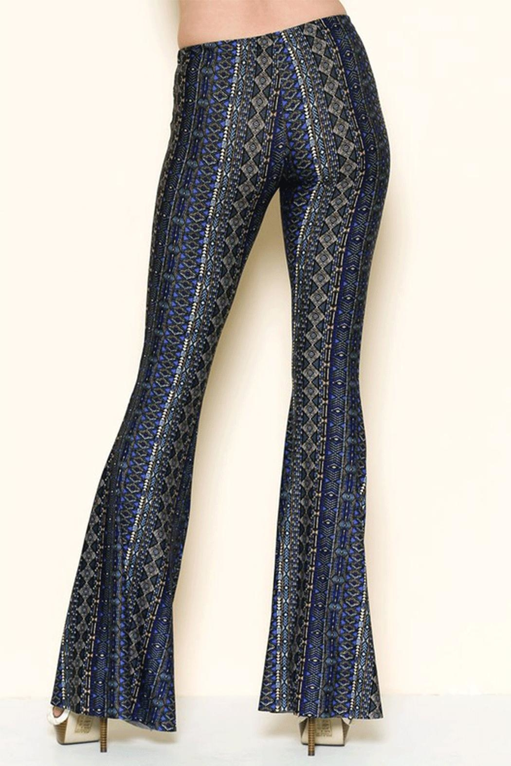 Solemio Printed Bell Bottoms - Side Cropped Image