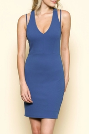 Solemio Racerback Cutout Dress - Front full body