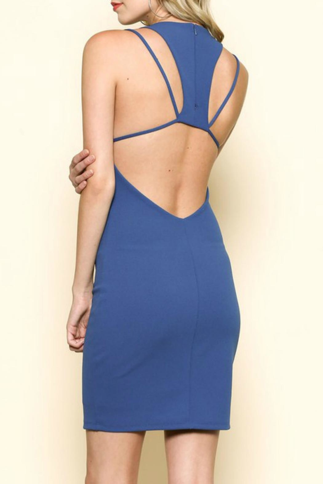 Solemio Racerback Cutout Dress - Front Cropped Image