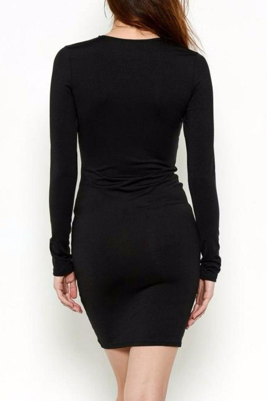 Solemio Ruched Dress - Front Full Image