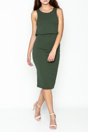 Solemio Sleeveless Overlay Dress - Product Mini Image