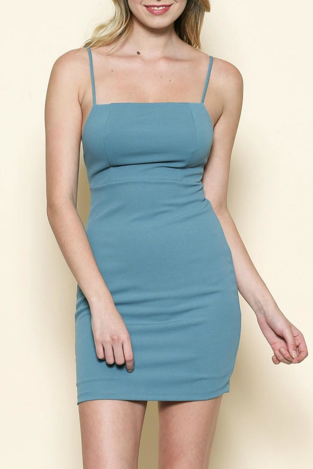 Solemio Square Cut Dress - Front Cropped Image