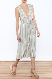 Solemio Stripe Tie Jumpsuit - Product Mini Image