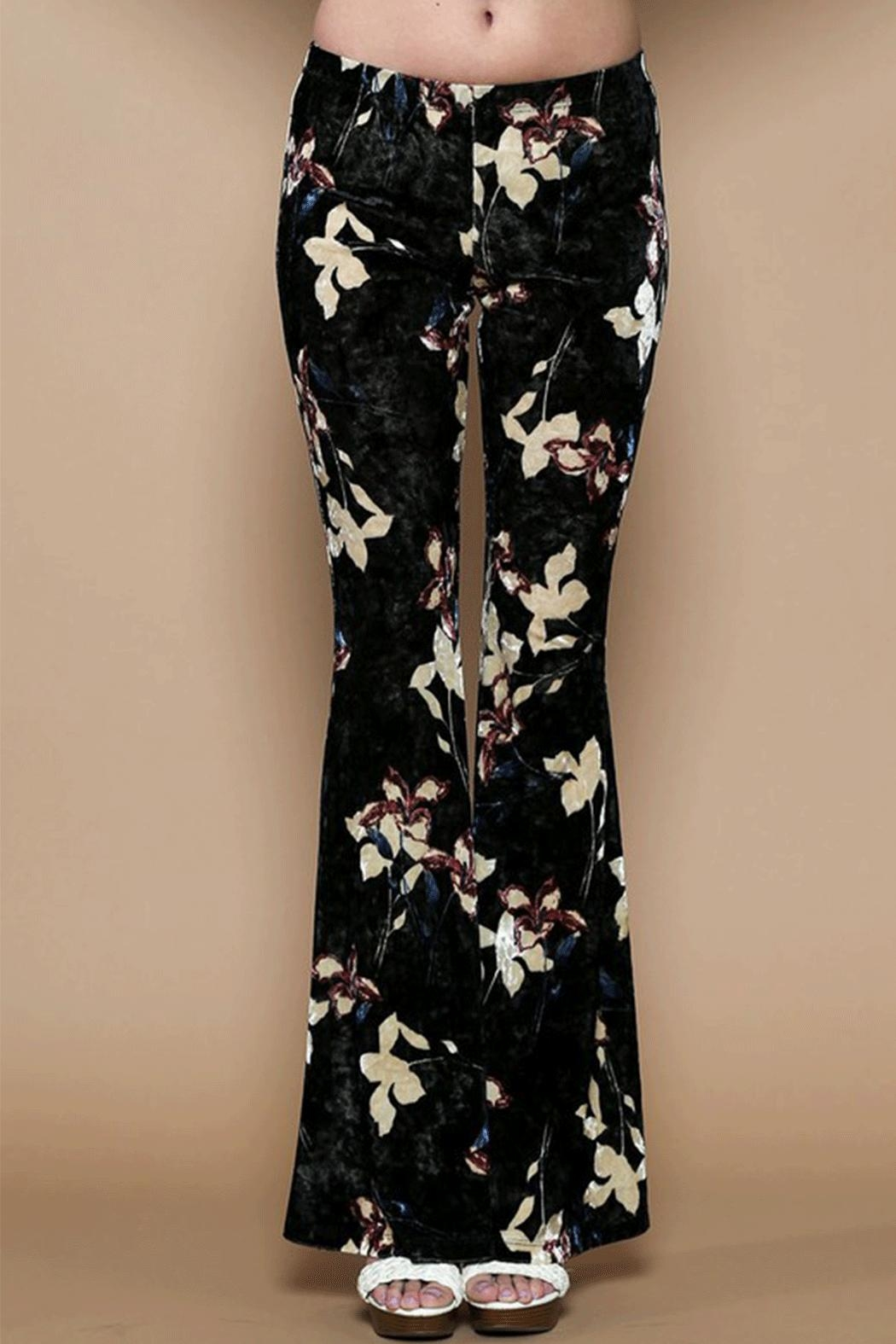Solemio Velvet Bell Bottoms - Front Cropped Image