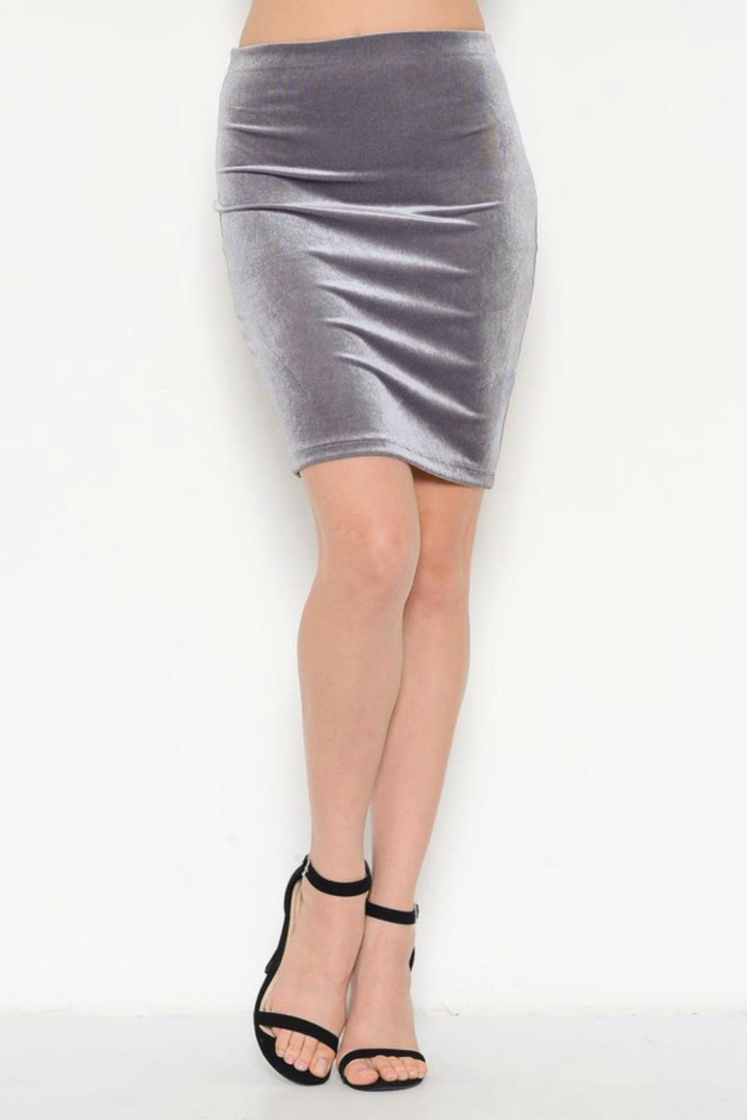 Solemio Velvet Pencil Skirt from San Diego by BRANDED — Shoptiques