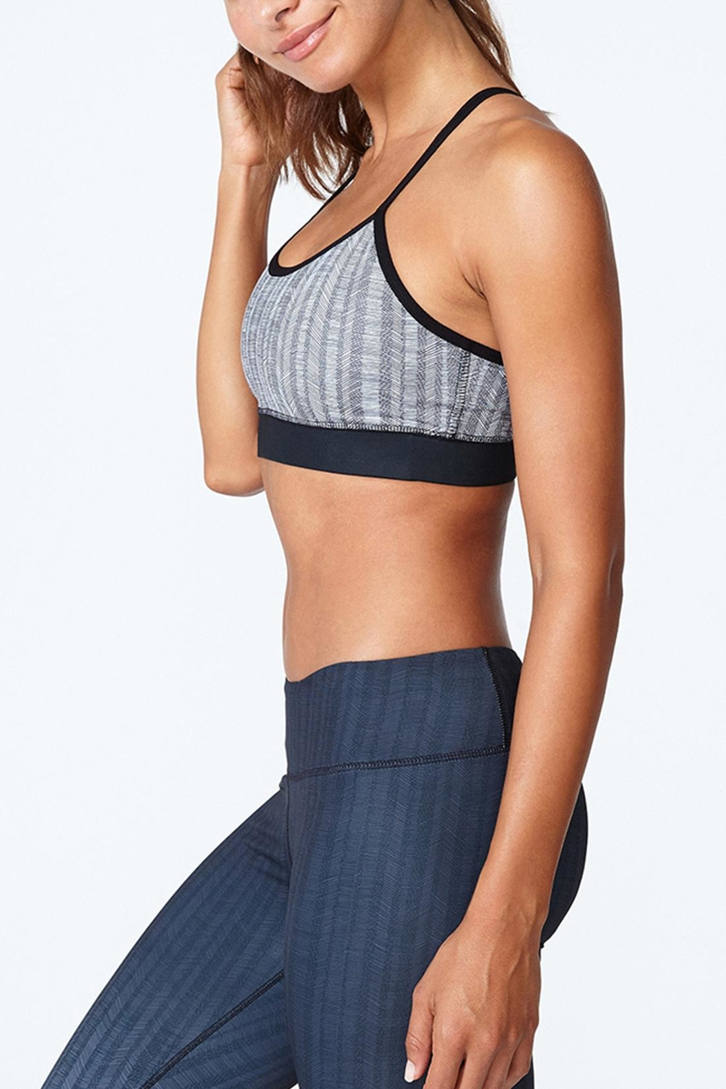 Solfire Grey Circuit Sports Bra - Side Cropped Image