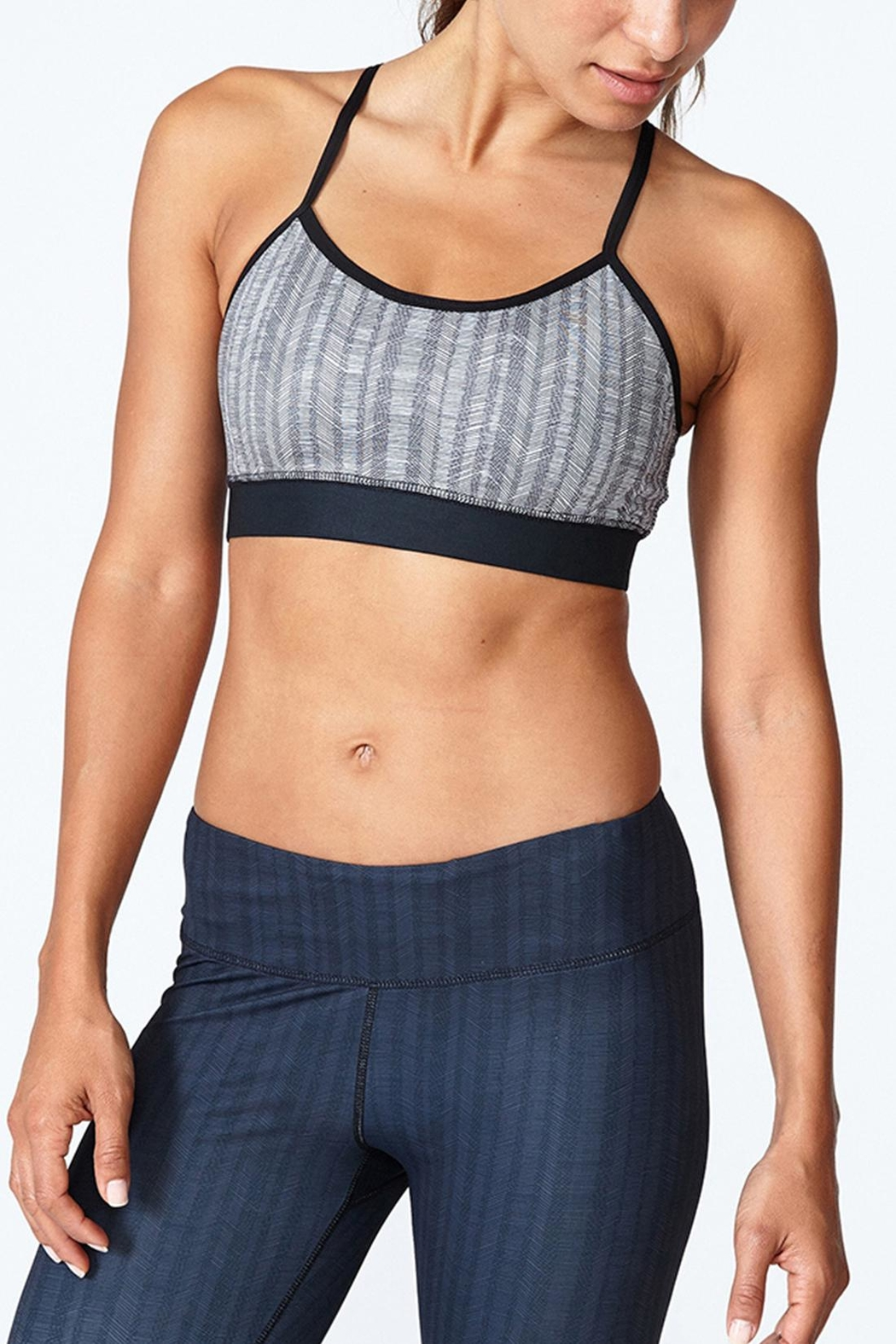 Solfire Grey Circuit Sports Bra - Front Cropped Image
