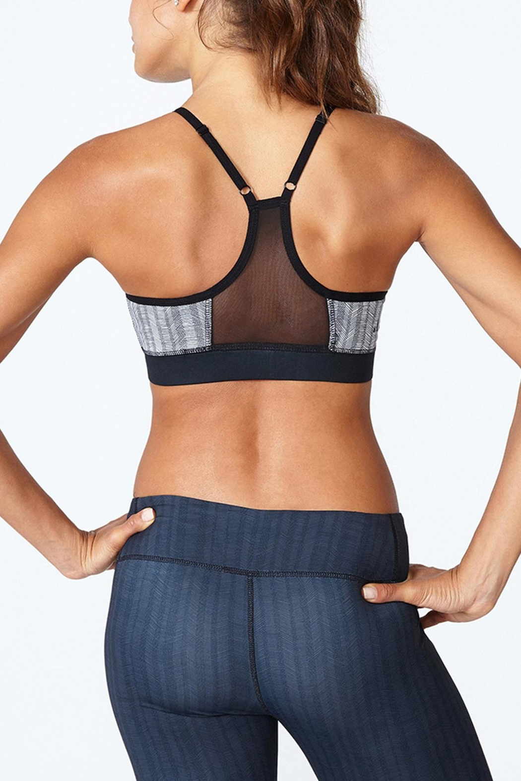 Solfire Grey Circuit Sports Bra - Front Full Image