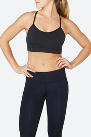 Solfire Circuit Black Sports Bra - Front cropped