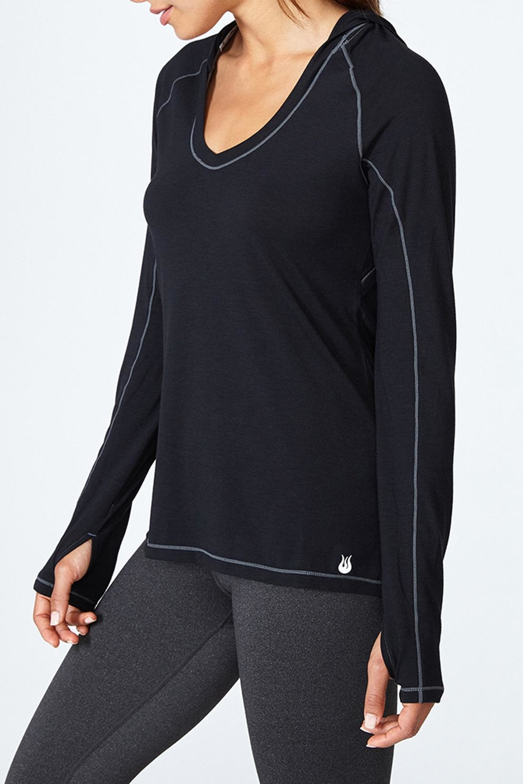 Solfire Cut Out Hoodie Top - Main Image