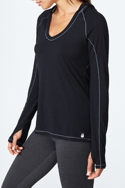 Solfire Cut Out Hoodie Top - Product Mini Image