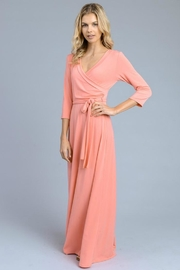vanilla bay Solid 3/4-Sleeve Maxi-Dress - Front cropped
