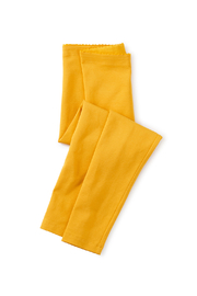 Tea Collection Solid Baby Leggings - Gold - Product Mini Image