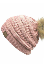 Judson & Co. solid beanie w/ pom - Product Mini Image