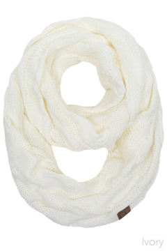 Shoptiques Product: Solid Cable Knit Infinity Scarf