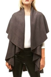 Hana Solid Cape Shawl - Front cropped