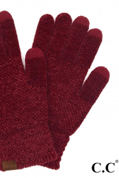 C.C Solid Chenille Knit Smart Touch Gloves - Product List Image