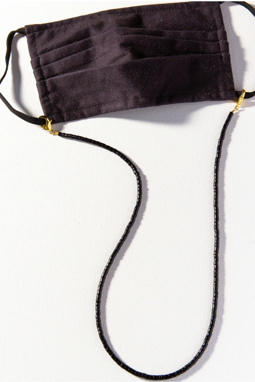 Ink + Alloy Solid Coconut Mask Necklace - Front Cropped Image