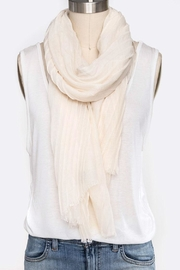 Nadya's Closet Solid Color Crinkle-Scarf - Front cropped
