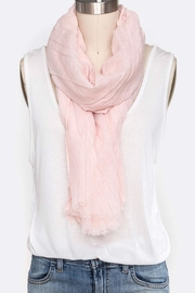 Nadya's Closet Solid Color Crinkle-Scarf - Product Mini Image