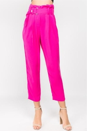 A Peach Solid Color Pants - Product Mini Image