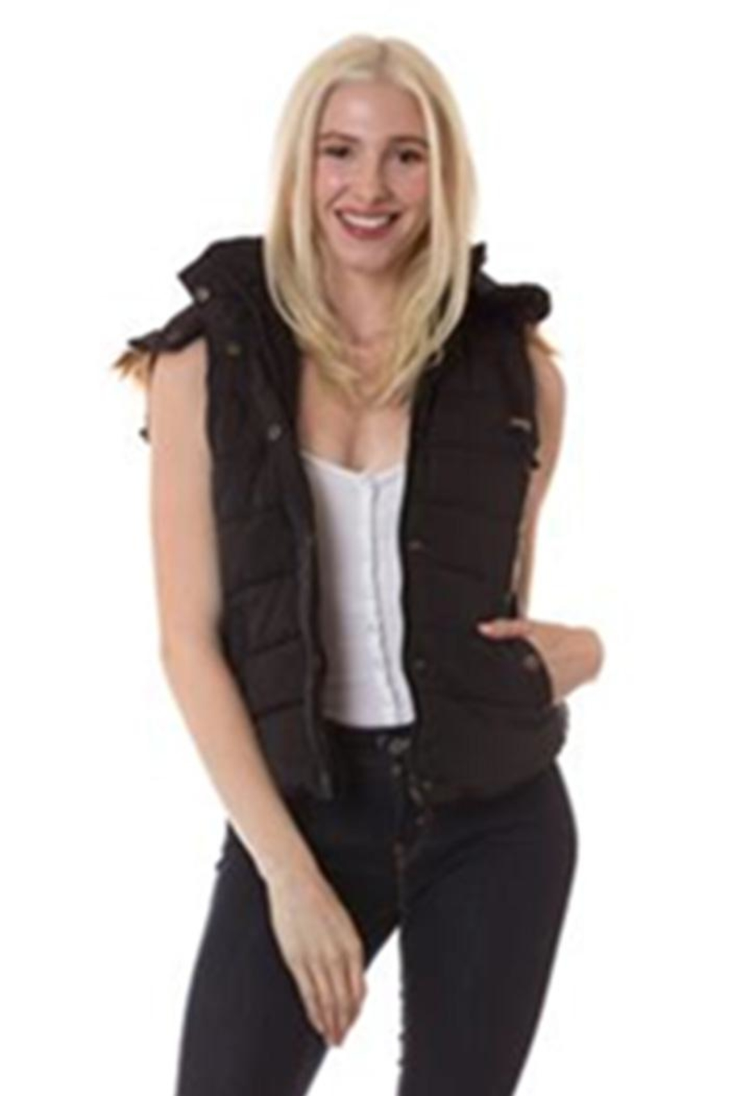 Love Tree Solid Color Vest - Front Cropped Image