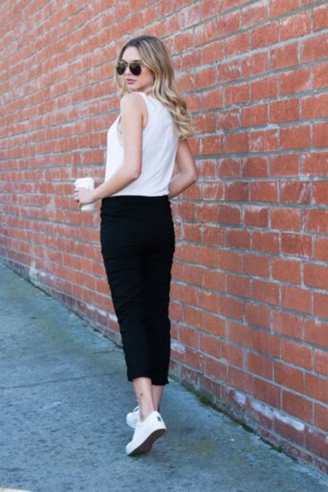 Venti6 Solid Crinkle Jogger - Side Cropped Image