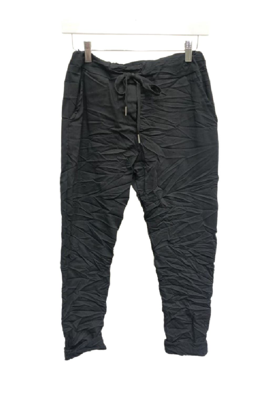 Venti6 Solid Crinkle Jogger - Back Cropped Image