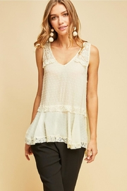 Entro Solid Dotted V-Neck - Front cropped