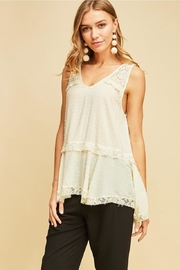 Entro Solid Dotted V-Neck - Front full body