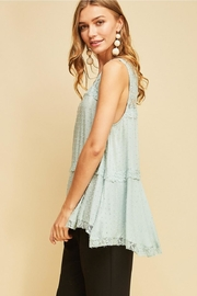 Entro Solid Dotted V-Neck - Side cropped